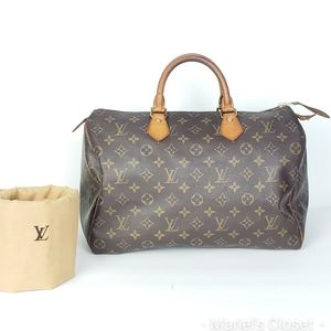 Louis Vuitton Speedy 35 with dustbag #1895M